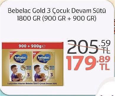Bebelac Gold 3 Çocuk Devam Sütü 1800 gr (900 gr + 900 gr) image