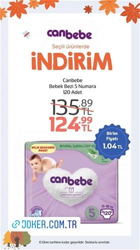 Canbebe Bebek Bezi 5 Numara 120 Adet image