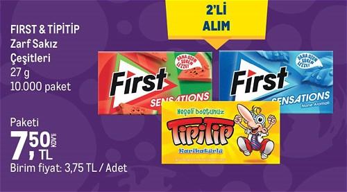First&Tipitip Zarf Sakız Çeşitleri 27 g image