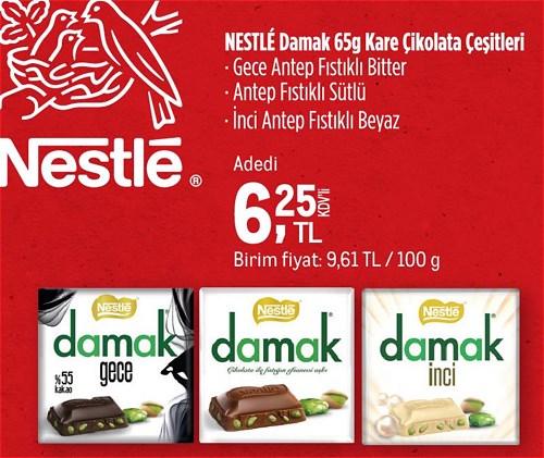 Nestle Damak Kare Çikolata Çeşitleri 65 g image