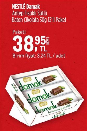 Nestle Damak Antep Fıstıklı Sütlü Baton Çikolata 30 g 12'li Paket image