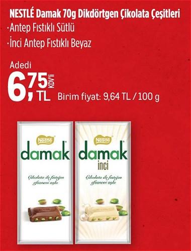 Nestle Damak Dikdörtgen Çikolata Çeşitleri 70 g image