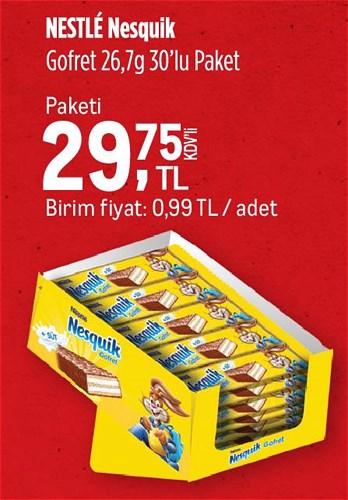 Nestle Nesquik Gofret 26,7 g 30'lu Paket image