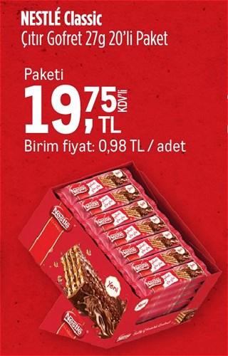 Nestle Classic Çıtır Gofret 27 g 20'li Paket image