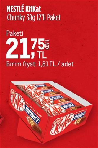 Nestle Kitkat Chunky 38 g 12'li Paket image
