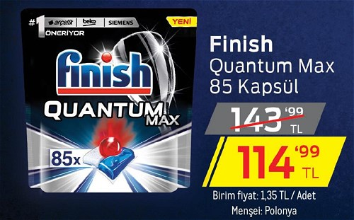 Finish Quantum Max 85 Kapsül image