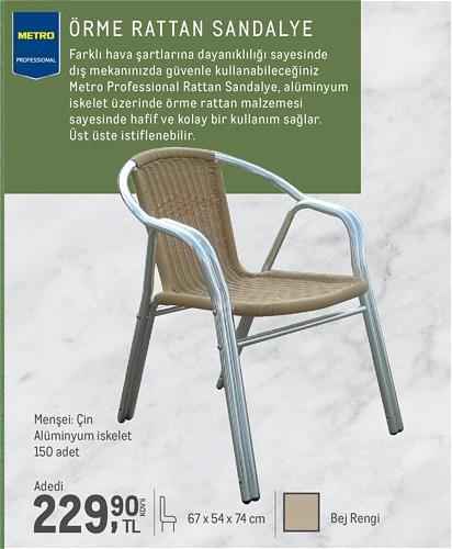 Metro Professional Örme Rattan Sandalye image