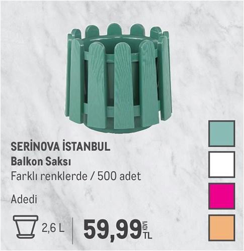 Serinova İstanbul Balkon Saksı 2,6 L image