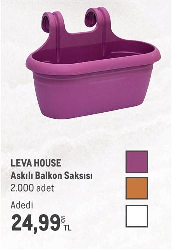 Leva House Askılı Balkon Saksısı image