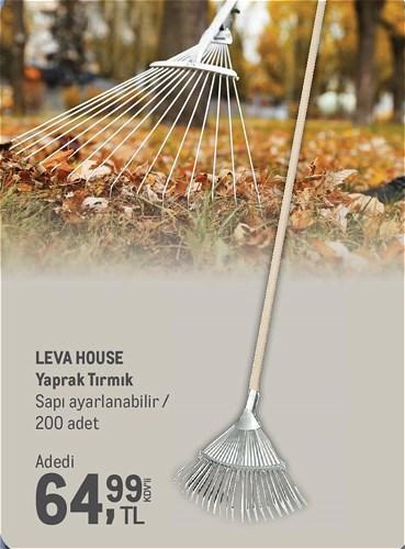 Leva House Yaprak Tırmık Sapı Ayarlanabilir image