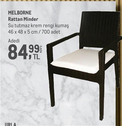 Melborne Rattan Minder 46x48x5 cm image