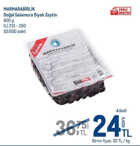 Marmarabirlik Doğal Samura Siyah Zeytin 800 g L 231-260 image