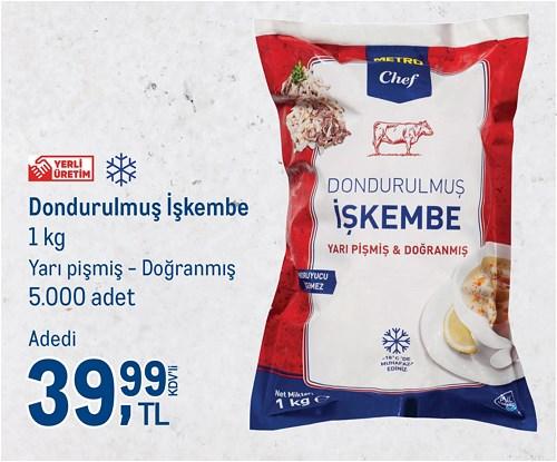 Metro Chef Dondurulmuş İşkembe 1 kg image
