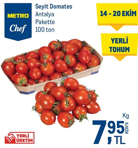 Metro Chef Seyit Domates Antalya Pakette Kg image