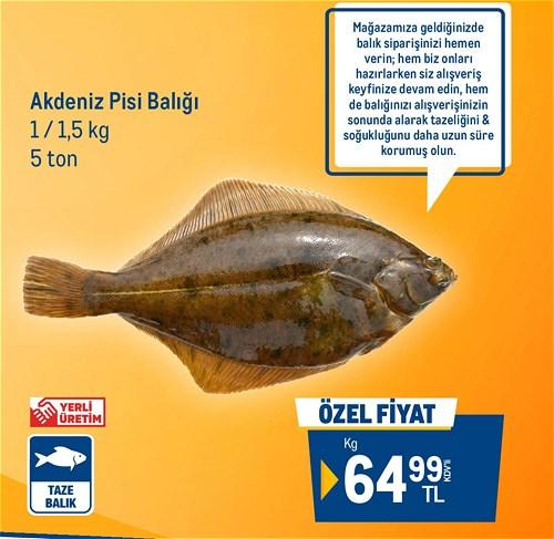 Metro Chef Akdeniz Pisi Balığı 1 / 1,5 kg image