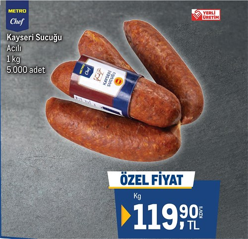 Metro Chef Kayseri Sucuğu Acılı 1 kg image