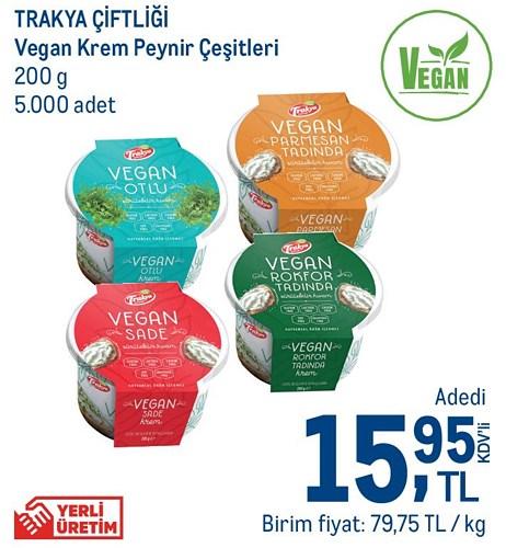 Trakya Çiftliği Vegan Krem Peynir Çeşitleri 200 g image