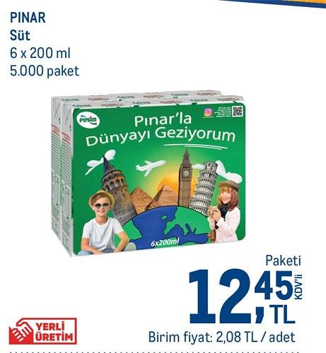Pınar Süt 6x200 ml image