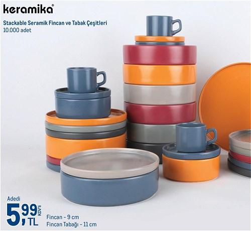 Keramika Stackable Seramik Fincan 9 cm/Fincan Tabağı 11 cm image