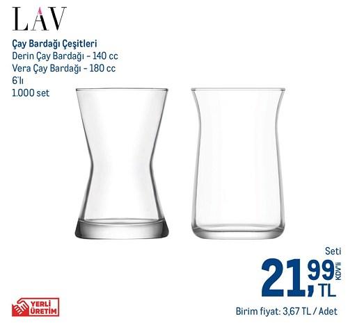 Lav Çay Bardağı Çeşitleri Derin 140 cc Vera 180 cc 6'lı image