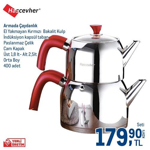 Hascevher Armada Orta Boy Çaydanlık image