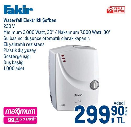 Fakir Waterfall Elektrikli Şofben  image