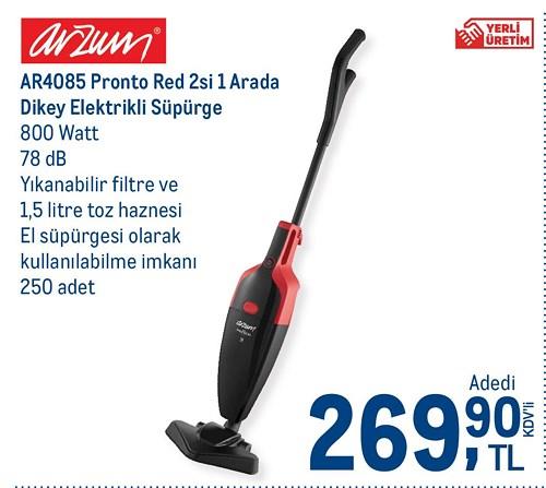 Arzum AR4085 Pronto Red 2'si 1 Arada Dikey Elektrikli Süpürge image