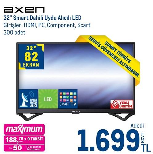 """Axen 32"""" Smart Dahili Uydu Alıcılı Led image"""