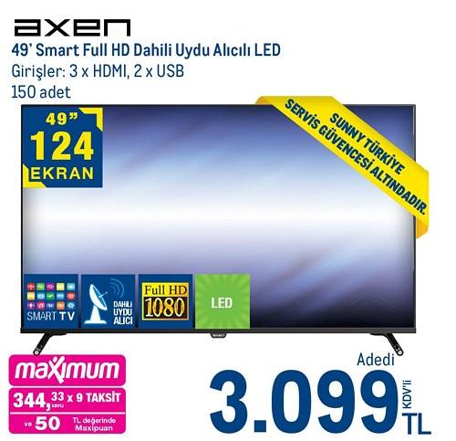 """Axen 49"""" Smart Full Hd Dahili Uydu Alıcılı Led image"""
