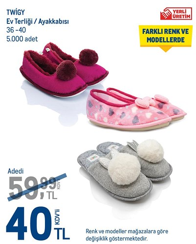 Twigy Ev Terliği/Ayakkabısı 36-40 image