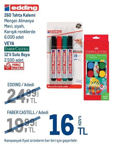 Edding 260 Tahta Kalemi / Faber Castell 12'li Sulu Boya image