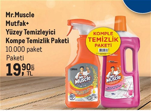 Mr.Muscle Mutfak+Yüzey Temizleyici Kompe Temizlik Paket image