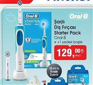 Oral-B Şarjlı Diş Fırçası Starter Pack +1 Yedek Başlık image