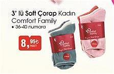 Comfort Family 3'lü Soft Çorap Kadın image
