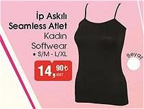 Softwear İp Askılı Seamless Atlet Kadın image
