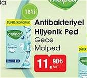 Molped Gece Antibakteriyel Hijyenik Ped 18'li image