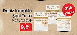 Naturalove Deniz Kabuklu Şerit Toka 3'lü image