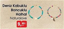Naturalove Deniz Kabuklu Boncuklu Halhal image