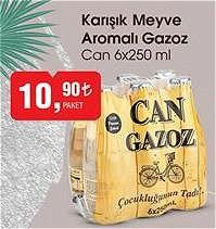 Can 6x250 ml Karışık Meyve Aromalı Gazoz image