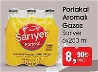 Sarıyer 6x250 ml Portakal Aromalı Gazoz image