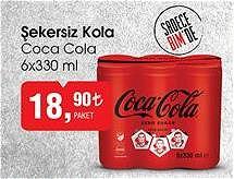 Coca Cola 6x330 ml Şekersiz Kola image