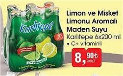 Karlıtepe 6x200 ml Limon ve Misket Limonu Aromalı Maden Suyu image