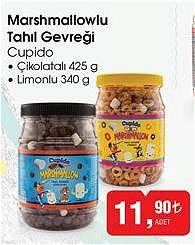 Cupido Marshmallowlu Tahıl Gevreği Çikolatalı 425 g / Limonlu 340 g image