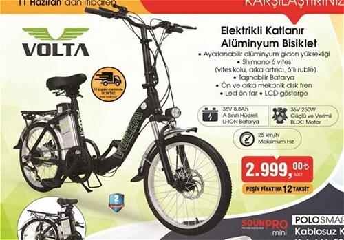Volta Elektrikli Katlanır Alüminyum Bisiklet image