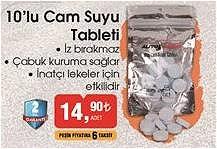 10'lu Cam Suyu Tableti image