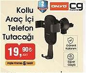 Onyo Kollu Araç İçi Telefon Tutucağı image