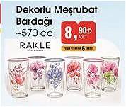 Rakle Dekorlu Meşrubat Bardağı 570 cc image