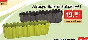 Akasya Balkon Saksısı 9 l image