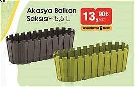 Akasya Balkon Saksısı 5,5 l image