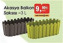 Akasya Balkon Saksısı 3 l image